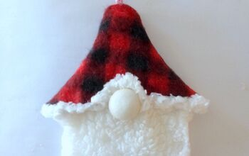 Make a Gnome Ornament From Dollar Store Slippers