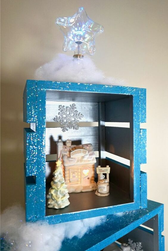 how to build a crate christmas display