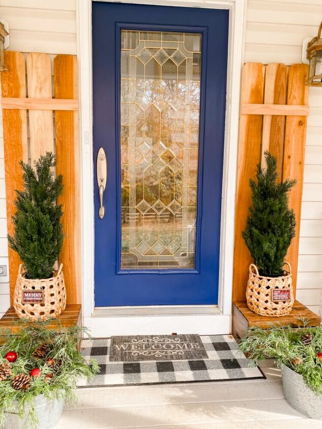 paint it blue painting my front door greenery decor