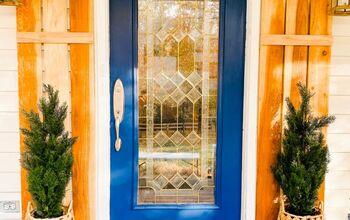 Paint It Blue! Painting My Front Door & Greenery Decor
