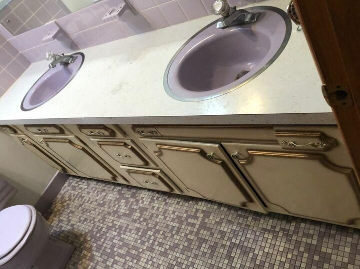 q suggestions updating without remodeling vintage lavender bathroom