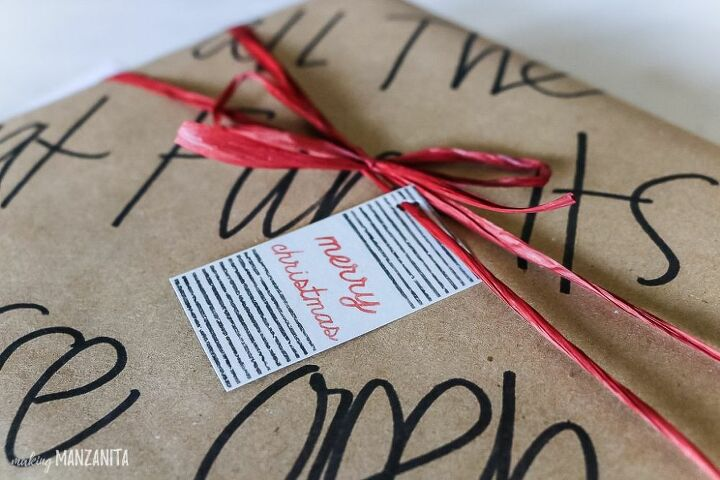 christmas gift tags with the silhouette mint