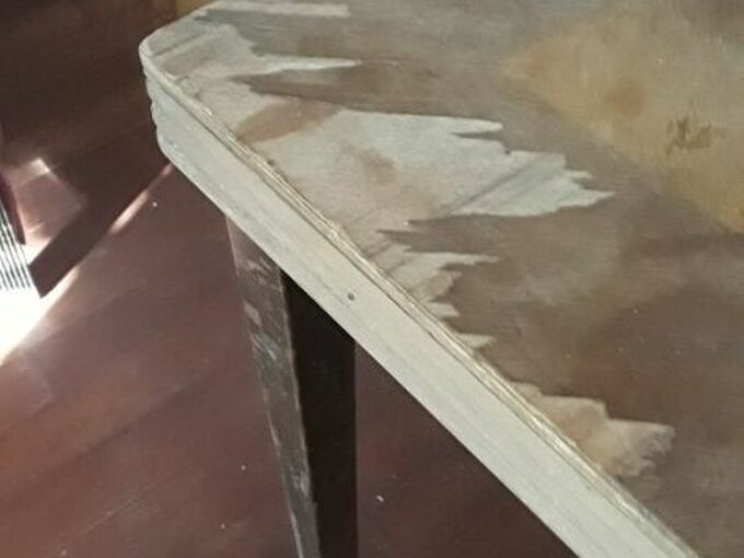 q how do i fix repair cover broken veneer on a pld table