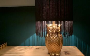 Up-cycled Owl Lamp