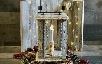 How to Make a Pallet Lantern With No Nails!
