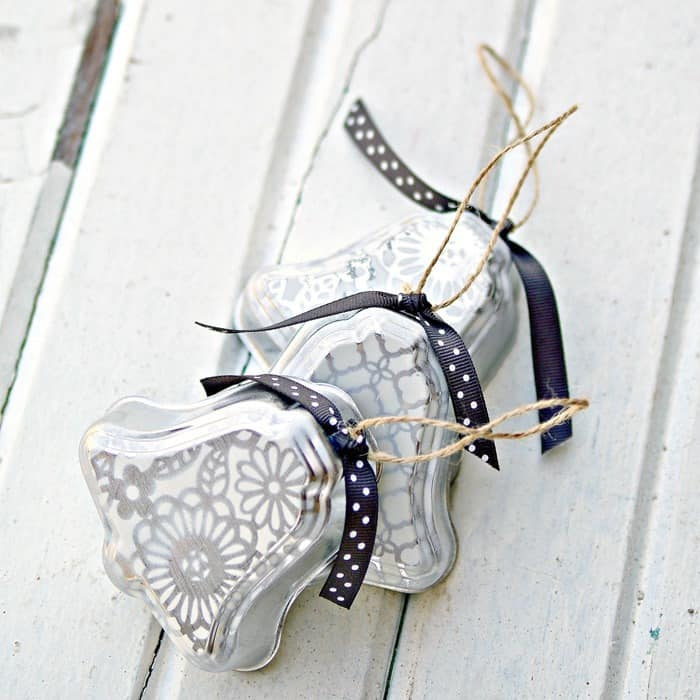how to make silver bell christmas ornaments