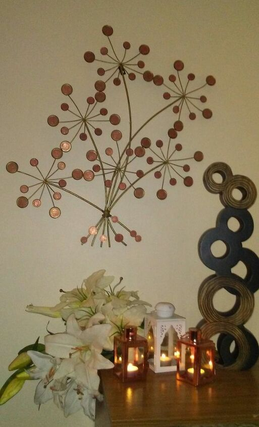 money tree made out of pennys from heavon