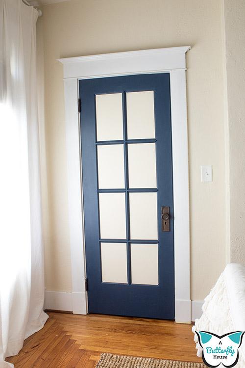 diy faux french door