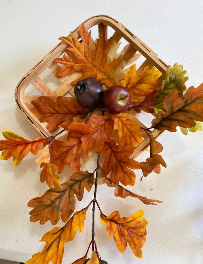 easy fall tobacco basket decoration for your home