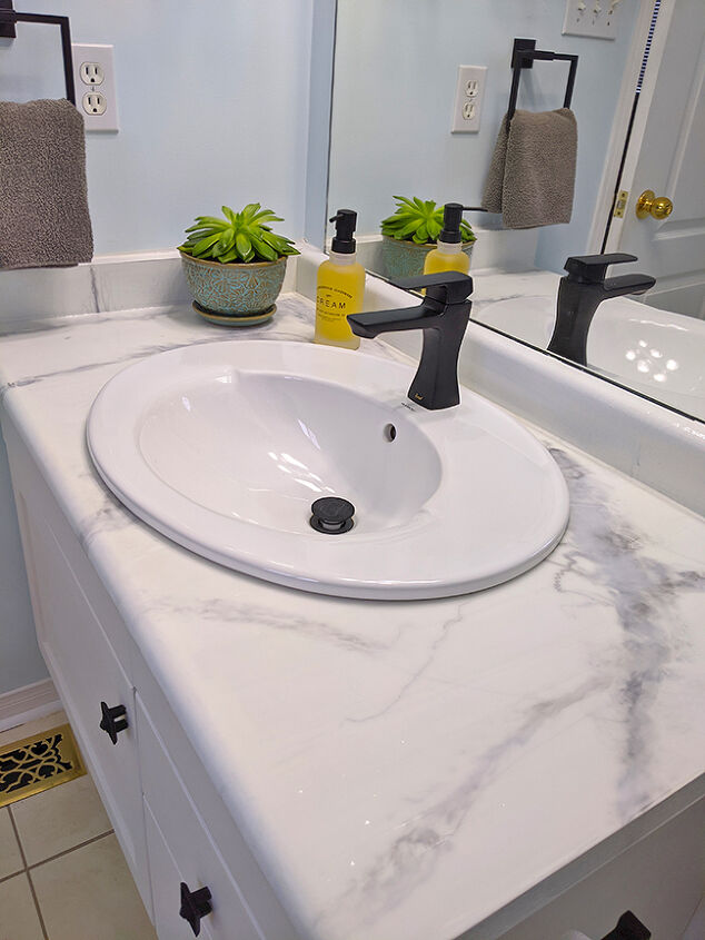 faux marble countertop using epoxy resin