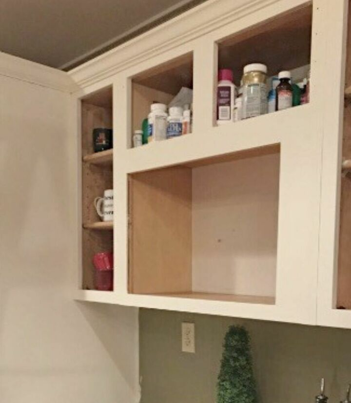 Remove all doors before painting cabinets.