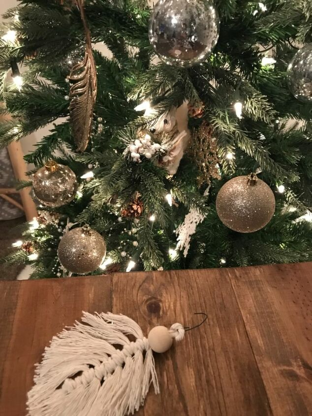 macrame feather ornaments