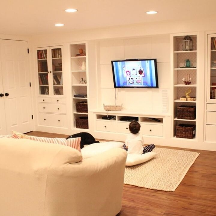 s basement furniture, 3 Create a Storage Wall to Free Space