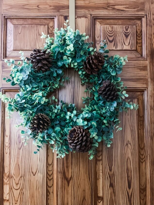 s 6 ways to use pine cones to decorate for the holidays, A boxwood fall wreath