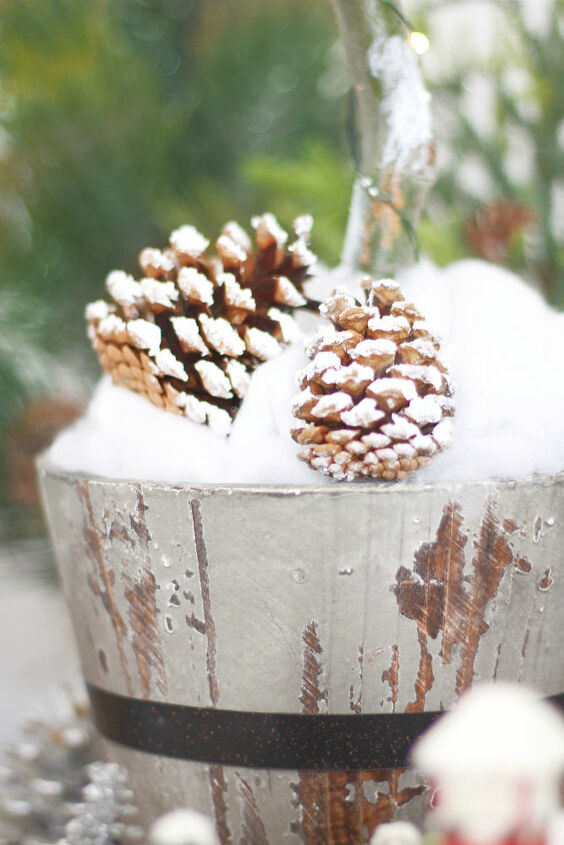 s 6 ways to use pine cones to decorate for the holidays, Christmas pine cone ornaments with DecoArt