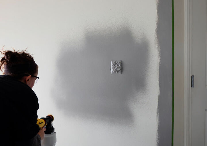 how to paint a wall with a paint sprayer