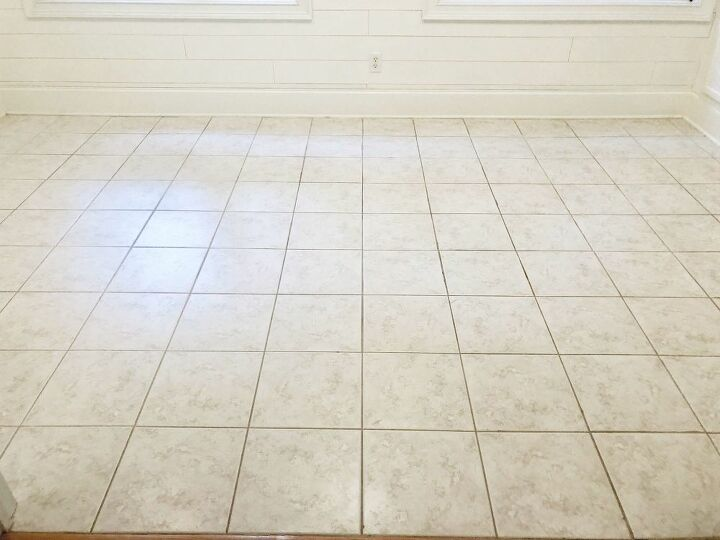 Tile floor before.