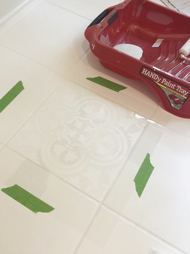 how to stencil your floor