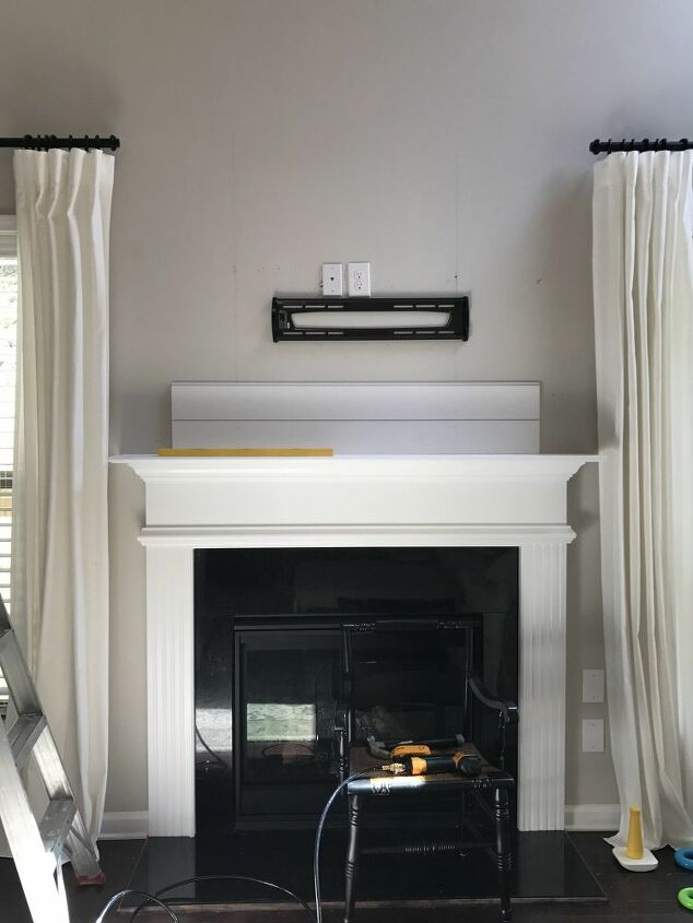 diy shiplap fireplace tutorial