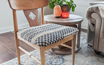Re-Cover a Chair With a Woven Rug