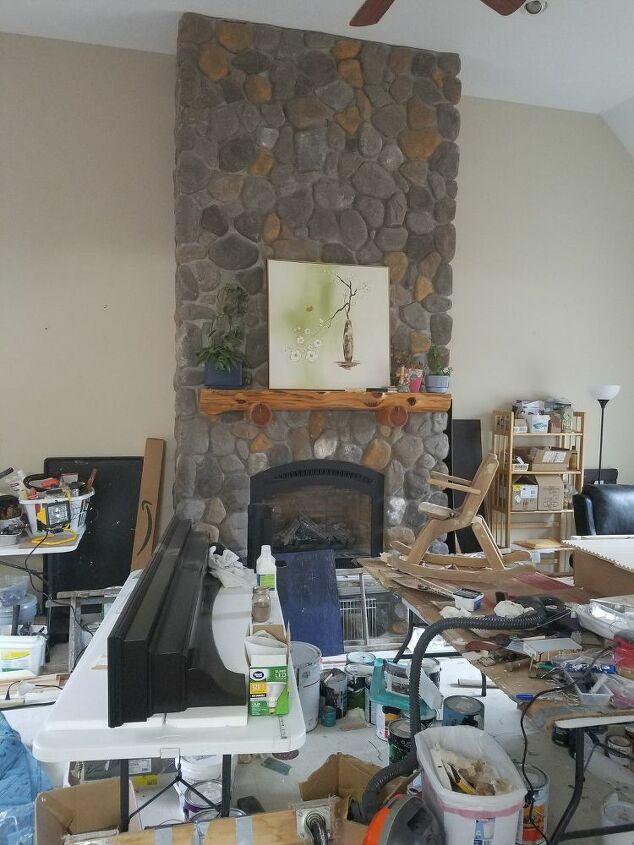 q how do i brighten stone fireplace