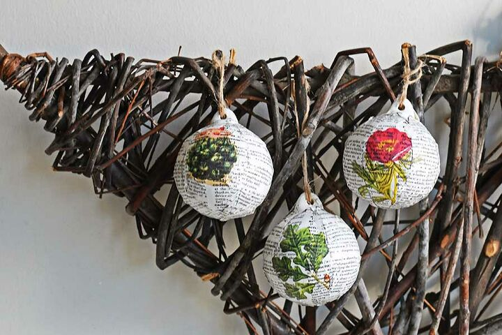 fun upcycled dictionary baubles for christmas