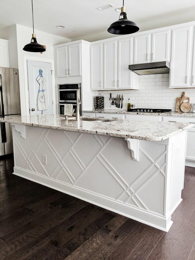 how to upgrade a builder grade kitchen island