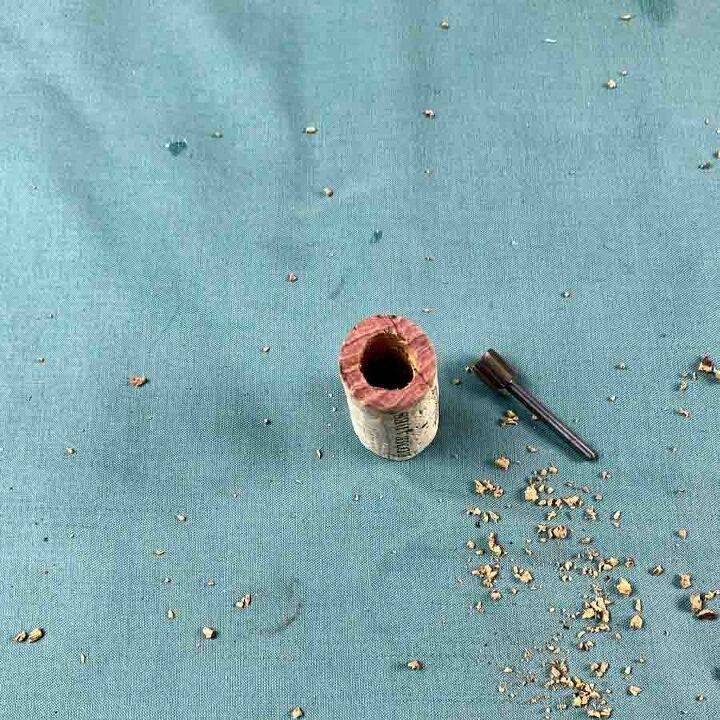 wine cork planter ornament