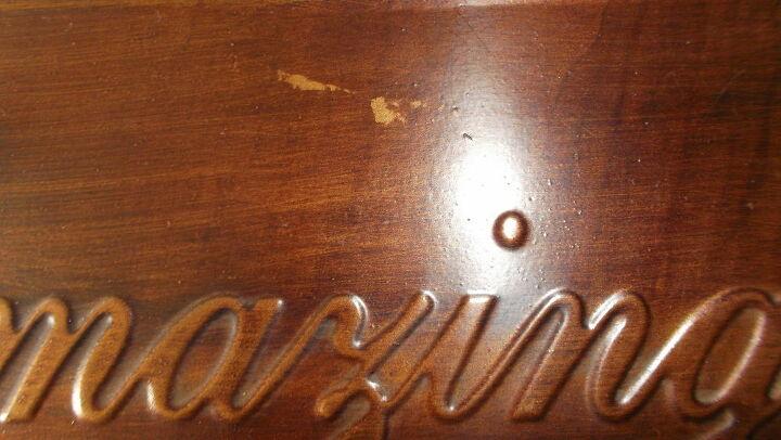 q how do i fix discoloration on a metal plaque