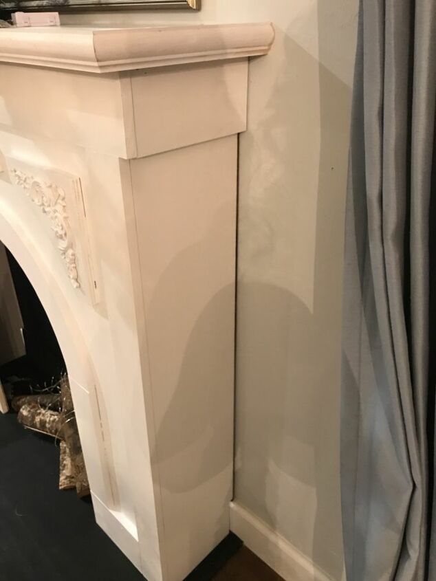 faux arched christmas fireplace