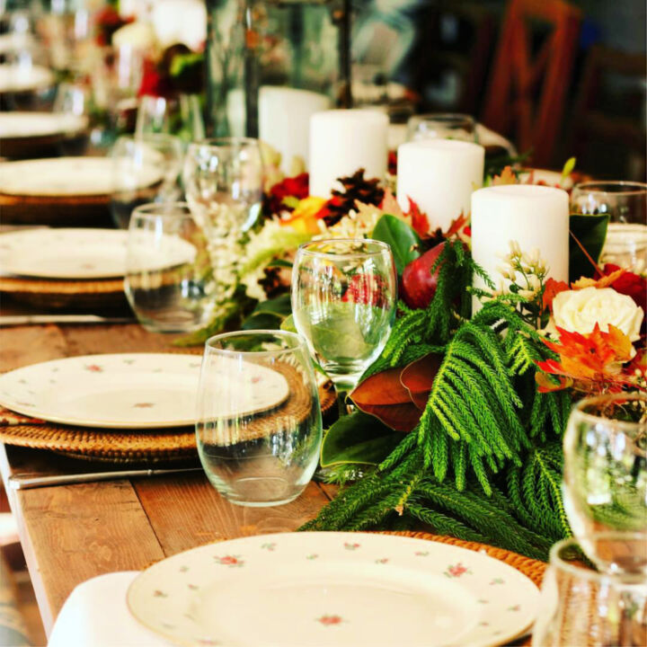 s 11 gorgeous thanksgiving table ideas for you to copy this year, Super Long Thanksgiving Centerpiece on the Ch