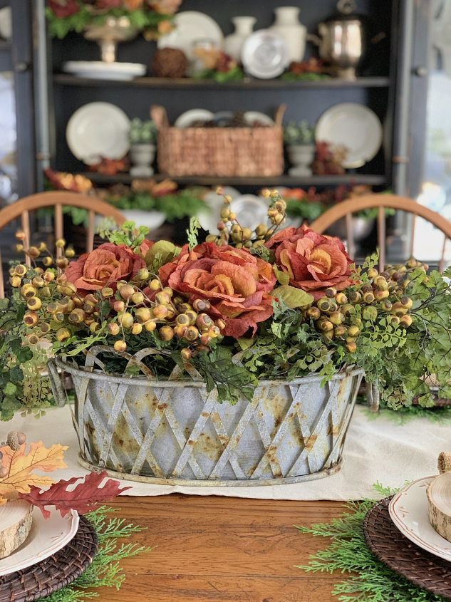 s 11 gorgeous thanksgiving table ideas for you to copy this year, Rustic Fall Tablescape Idea