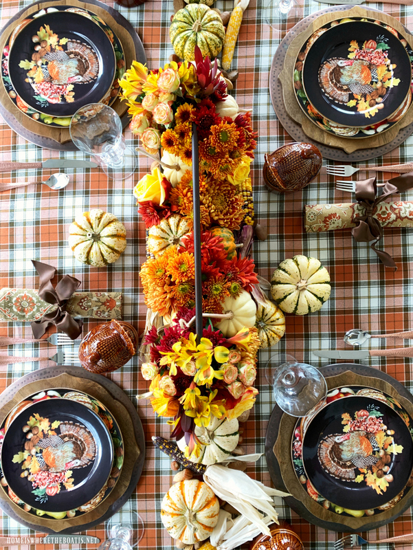 s 11 gorgeous thanksgiving table ideas for you to copy this year, DIY Floral Centerpiece for Thanksgiving