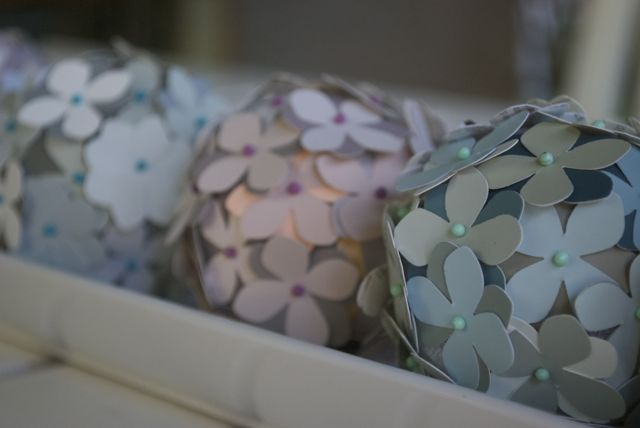 re purposing paint chips into cute table decor