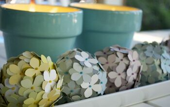 Re-Purposing Paint Chips Into Cute Table Decor