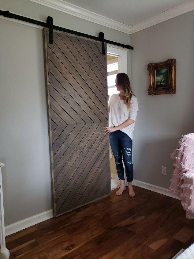 build a barn door with a modern twist