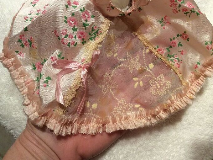 q cleaning vintage doll dress