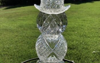 Glass Candle Holder Snowman