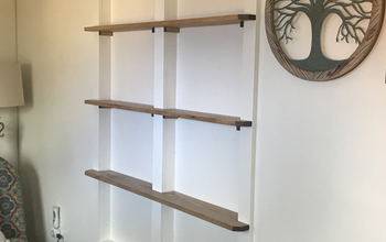 Built-In Shelving Between Wall Studs