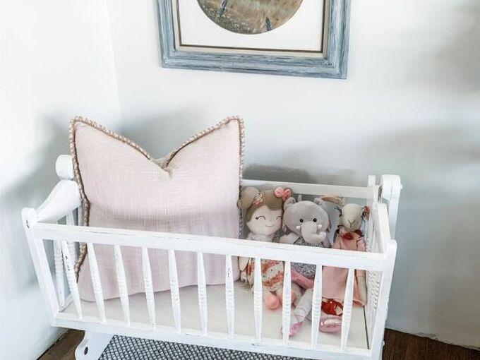 refinished baby bassinet