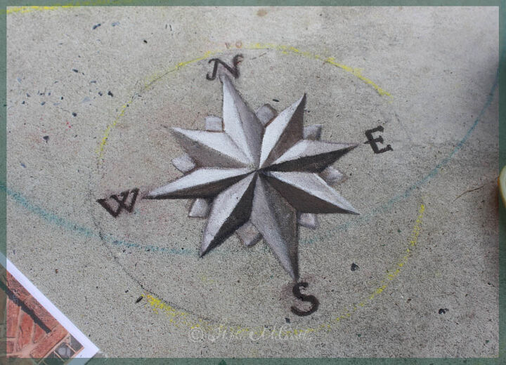 how to transfer art patterns onto concrete for decorative painting