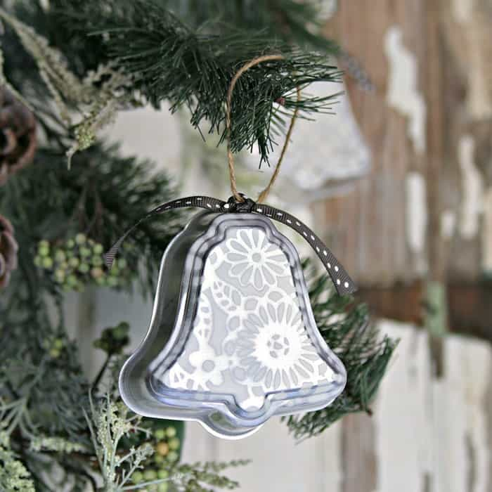 s 25 unconventional christmas ornament ideas for 2019, Silver bell Christmas ornaments using jell o molds