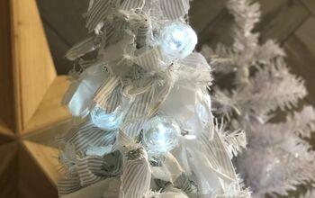Rustic Dollar Tree Rag Christmas Tree – DIY