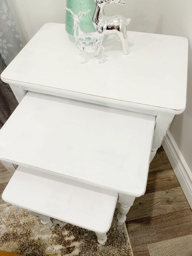 refurbished farmhouse style nesting tables