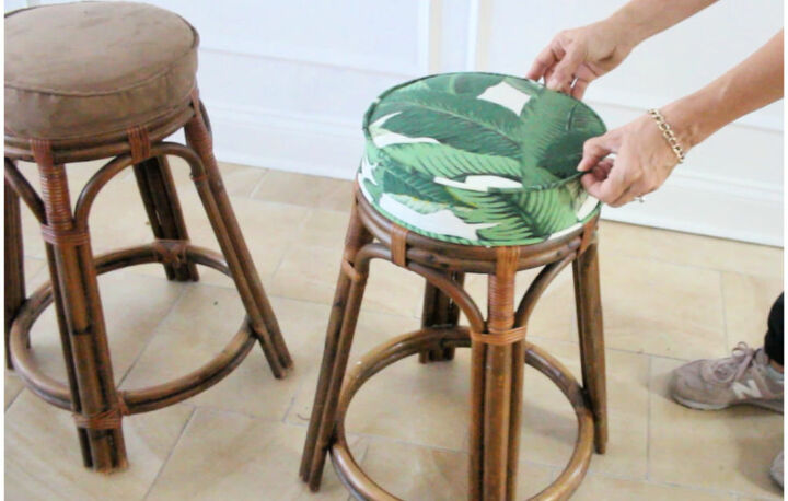 how to reupholster a barstool
