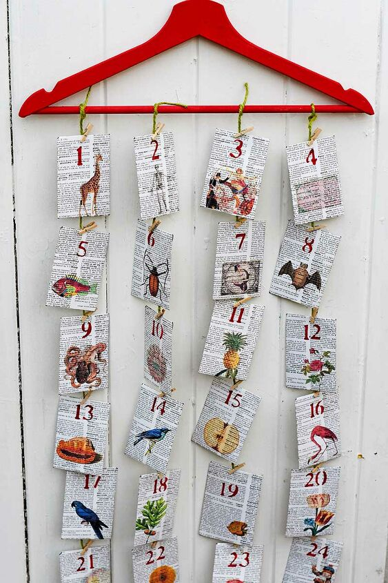 s 10 fun advent calendars the whole family can enjoy, Upcycled Old Dictionary Advent Calendar
