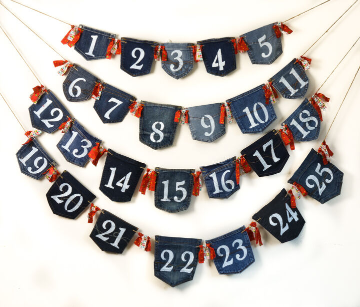 s 10 fun advent calendars the whole family can enjoy, Denim Pockets Christmas Advent Calendar