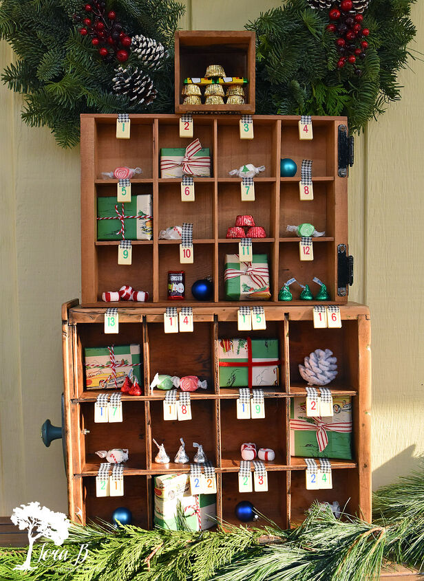 s 10 fun advent calendars the whole family can enjoy, Vintage Junker Style Advent Calendar