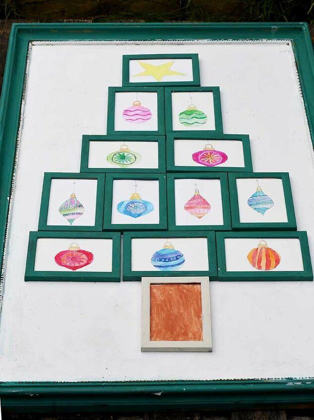 framed christmas tree wall art