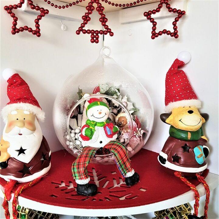 how to make a corner christmas tree shelf